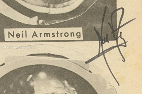 Neil Armstrong Newspaper Photograph Signed Circa 1969