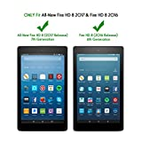 [2-Pack] All-New Fire HD 8 Screen Protector (2017 Release) - OMOTON Tempered Glass Screen Protector for All-New Fire HD 8 Tablet (2017 Release) and Fire HD 8 (2016 Release)