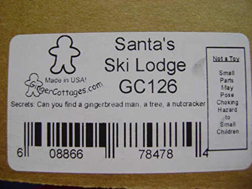 Ginger Cottages - Santa's Ski Lodge GC126, Miniature Collectable building for Christmas and holiday displays. Wood table top display or ornament. Hand crafted in the Richmond Virginia, USA area. by Ginger Cottages (Image #5)