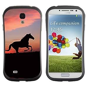 Suave TPU GEL Carcasa Funda Silicona Blando Estuche Caso de protección (para) Samsung Galaxy S4 I9500 / CECELL Phone case / / cute animals horse /