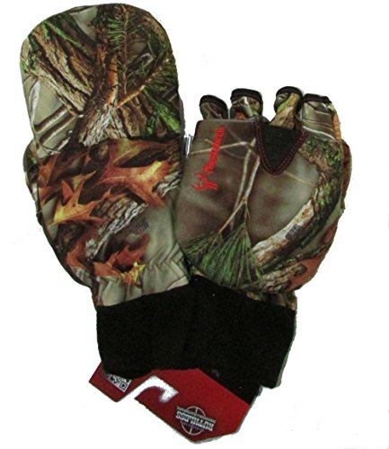 Men's Hunting Oaktree Camo Extreme Cold Pop-Top Glove (Large)