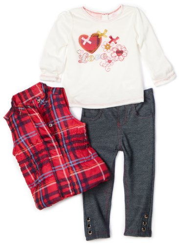 Kids Headquarters Baby Girls' 3 Piece Vest Set