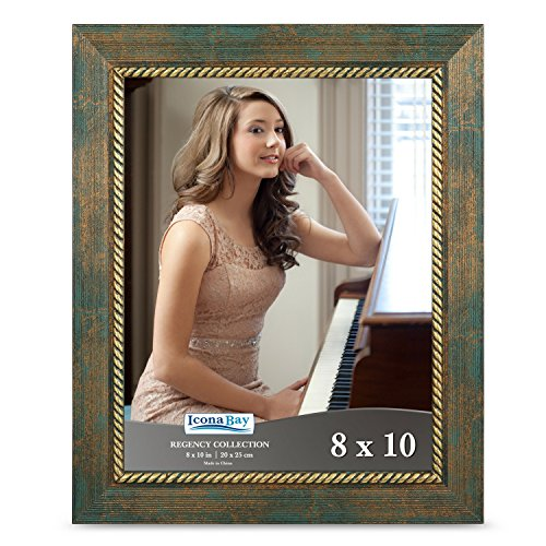 Icona Bay 8x10 Picture Frame (1 Pack, Jade Green), Jade Photo Frame 8 x 10, Wall Mount or Table Top, Set of 1 Regency ()