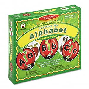 Carson-Dellosa Publishing Ladybug Letters Alphabet Learning Puzzle Game, Ages 3 and Up