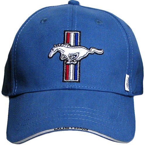 Ford Mustang GT Fine Embroidered Hat Cap, Blue