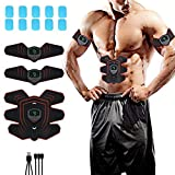 electronic abdominal machine - USB Rechargeable EMS Muscle Toner, Portable Six Pack ABS Abdominal Trainer with 10 pcs Replacement Gel Pads, Smart Fitness Mobile-Gym Fat Burning Slim Equipment for Men and Women