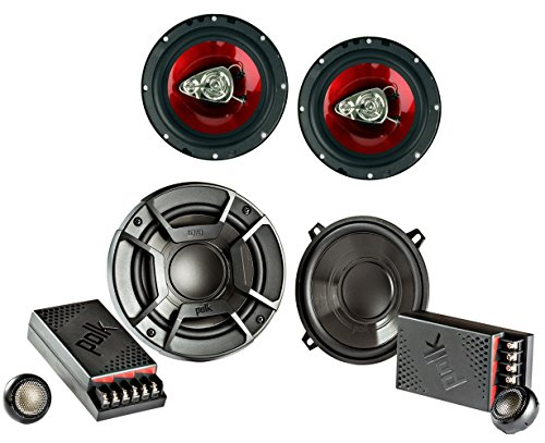 "Polk Audio 5.25"" 2 Way + Boss 6.5 Inch 3-Way Car Audio Speak"