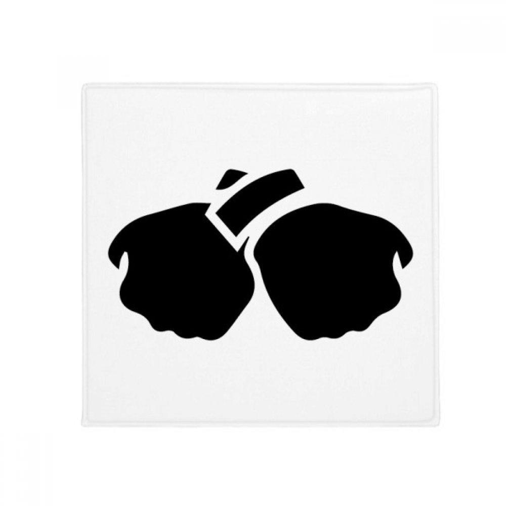 DIYthinker Gesture Fist Silhouette Pattern Anti-Slip Floor Pet Mat Square Home Kitchen Door 80Cm Gift
