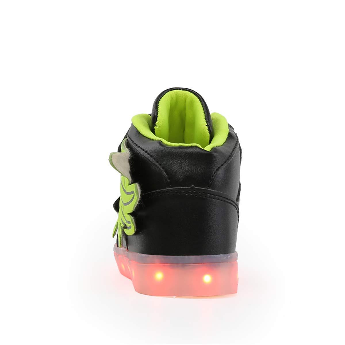 Kauson Mixte Enfants LED Chaussures de Sport 7 Changement de Couleur Chaussure de Mutilsport USB Rechargeable LED Lumineuse Baskets Mode Respirante Running Sneakers pour Gar/çons et Filles Cadeau