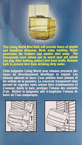Living-World-Plastic-Clear-Bird-Bath-Outside