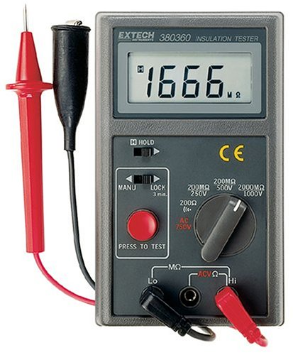 Extech 380360 Digital Megaohm Insulation Tester by Extech