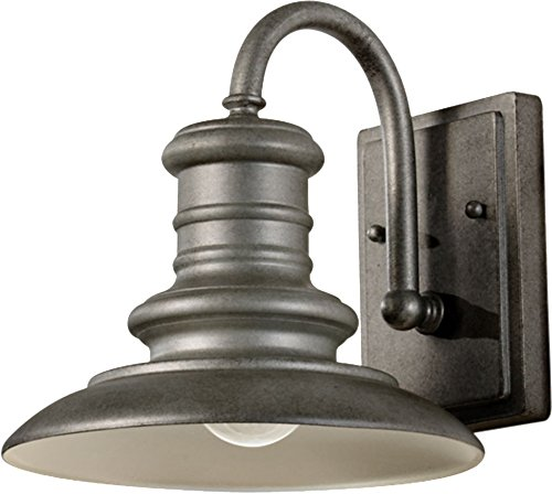 ing Station Outdoor Patio Lighting Wall Lantern, Satin Nickel, 1-Light (9