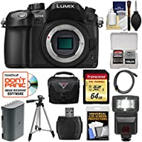 Panasonic Lumix DMC-GH4 4K Micro Four Thirds Digital Camera Body with 64GB Card + Battery + Case + Tripod + Flash + Accessory Kit Explained Review Image