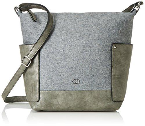 Gerry Weber 4080003732 - Bolsa de Medio Lado de Fieltro Mujer Gris (Light Grey 801)