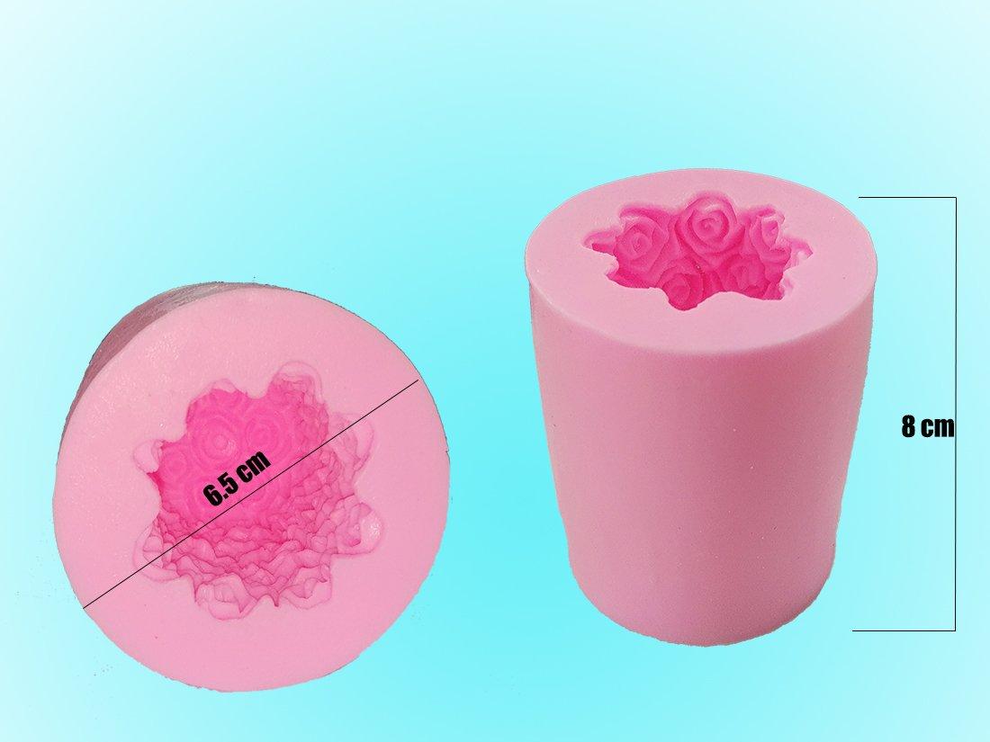 Homankit silicona rosa vela moldes/ moldes de jabón Moldes/ ideal molde para DIY para hacer velas, jabón hacer y hornear: Amazon.es: Hogar