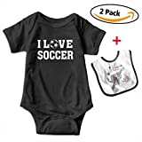 Best Bracelets 2 Piece For Boys - Cami I Love Soccer Baby Short Sleeve Ba Review
