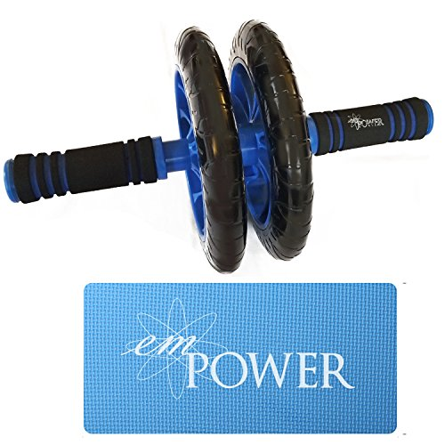 Ab Workout Roller Wheel With Knee Mat Oblique Glutes