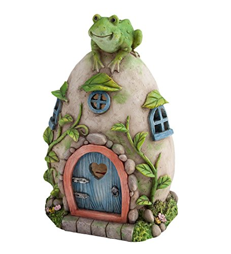 Wind & Weather Frog Fairy House - 5.5 L x 5 W x 8.75 H