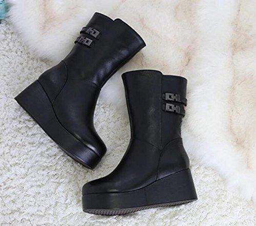 ZZHH chaussures en coton rembourré bottes bottes de neige glissent tendon à la chaussure d'extrémité