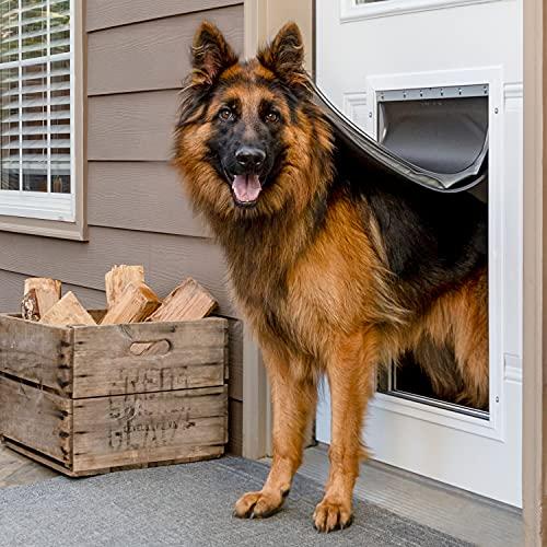 PetSafe Extreme Weather - Puerta de Aluminio para Perros y Gatos con Aislamiento de Alta eficiencia energética, extralarga (XL)