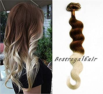 Amazon chocolate brown to platinum blonde two colors ombre chocolate brown to platinum blonde two colors ombre hair extension 18 clips indian remy clip pmusecretfo Images