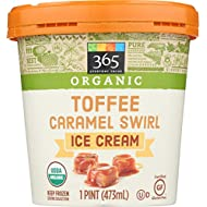 365 Everyday Value Organic Caramel Swirl Toffee, 16 oz (Frozen)