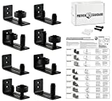 Barn Door Floor Guide Stay Roller - Black Powder Coated Adjustable Wall Mount Guide with 8 Different Setups - Perfect Fit for ALL Barn Doors - Bottom Bracket Sits Flat On Floor - No Guess Zero Stress