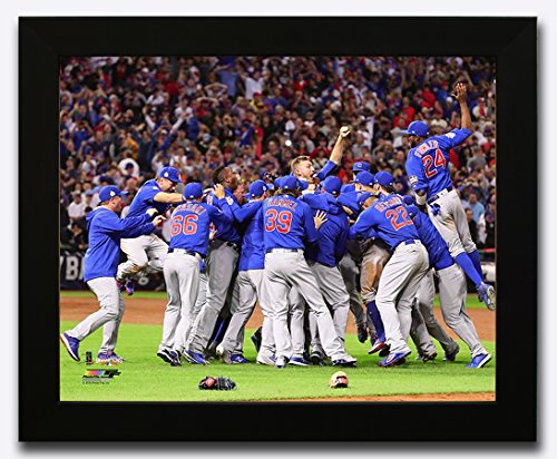 Framed Chicago Cubs - 2016 World Series Champions! Celebration On The Mound! 8x10 Photo Picture