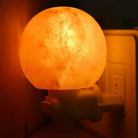 Authda Lámpara de Sal del Himalaya Purificador de Aire Ajuste de ...
