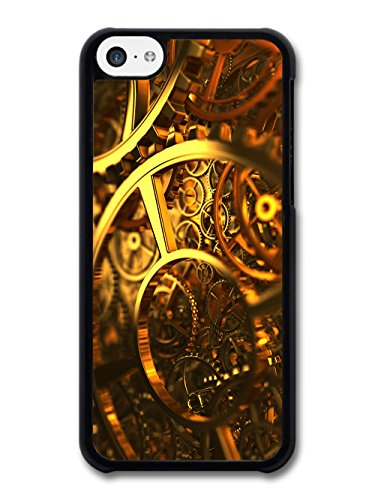 Cool Steam Punk Gears Cogs Fashion in Gold Style case for iPhone 5C