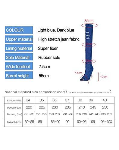 Mid Blue Calf Warm Boots Resistant Fur LS 1 Snow Womens Water Wicky TFcqBq