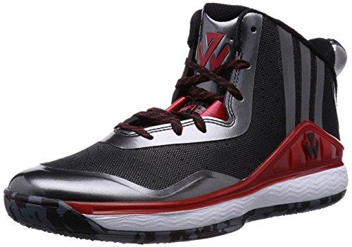 adidas J Wand, Schwarz/Rot/WeiÃ?, 8 M US Black/Red/White