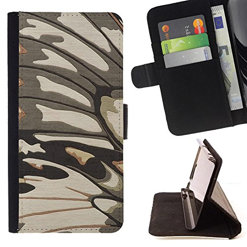Planetar Colorful Pattern Flip Wallet Leather Holster Protective Skin Case Cover For LG G3 D855 D850 D851 ( Caterpillar Moth Pattern Butterfly ) (Lg G3 Caterpillar Case)