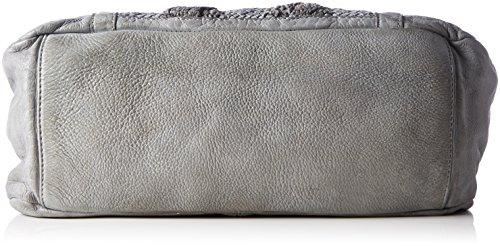 Taschendieb Td0118g - Borse a secchiello Donna, Grau, 8x28x28 cm (B x H T)