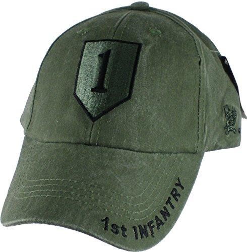 1st Infantry Division Tonal Color Insignia Adult Cap [Adjustable - Green]