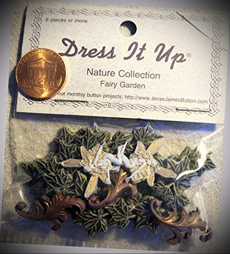 JumpingLight Dress It Up Nature Collection Fairy Garden Leaves Ivy Plastic Buttons 8877 Perfect for Crafts, Scrap-Booking, Jewelry, Projects, Quilts - Ivy Blazer Buttons