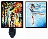 Night Light Plus Additional Switchable Insert - Dance - Ballet - Ballerina - Raining - Couple - Umbrella