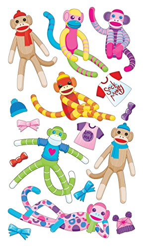 Sticko Sock Monkey Stickers ()