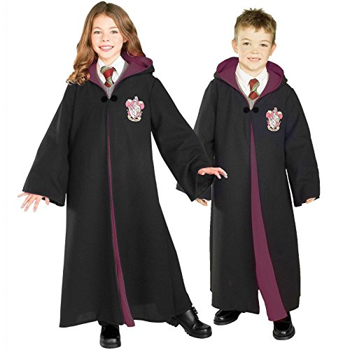 Deluxe Child's Harry Potter Robe with Gryffindor Emblem, Medium - Hermione Costume Child