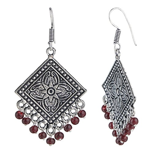 Efulgenz Indian Vintage Retro Ethnic Dangle Gypsy Oxidized Boho Dangle Drop Hook Earrings for Girls and Women Love Gift