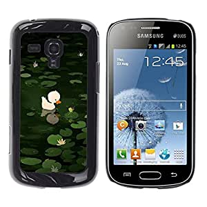 Be Good Phone Accessory // Dura Cáscara cubierta Protectora Caso Carcasa Funda de Protección para Samsung Galaxy S Duos S7562 // Sweet Cute Pond Drawing Green Animal