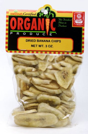 Melissa's Organic Dried Banana Chips, 3 packages (3 oz)