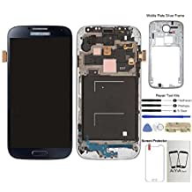 Display Touch Screen (AMOLED) Digitizer Assembly with Frame for Samsung Galaxy S4 (SIV) SGH- I337 (AT&T)/ SGH-M919 (T-Mobile)(for SAMSUNG Mobile Phone Repair Part Replacement)(Free Repair Tool Kits) (Black Mist)