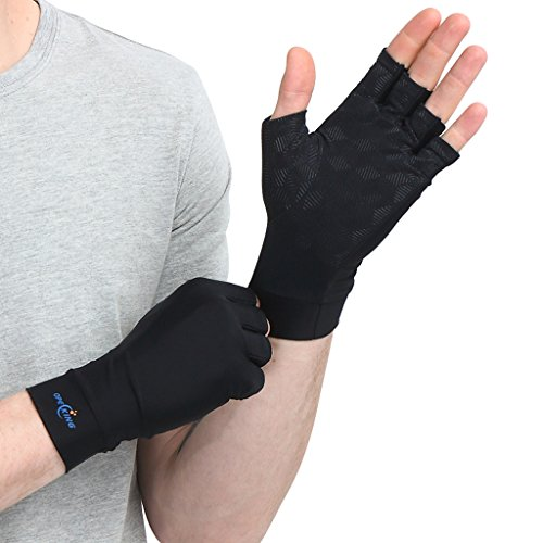 Arthritis Gloves Copper Infused Compression Golves Relieve Symptoms Of Rheumatoid Rsi Carpal Tunnel Tendonitis Typing Raynaud For Women And Men  1 Pair