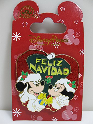 Disney Mickey & Minnie Feliz Navidad Merry Christmas 2014 Pin - Theme Park Exclusive