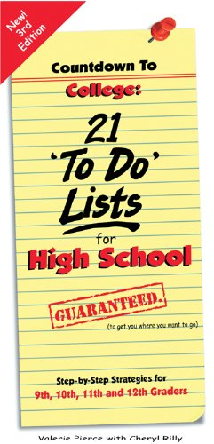 Pdf Teen Countdown to College: 21 'To Do' Lists for High School