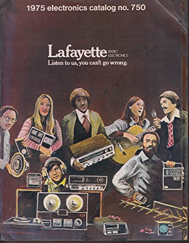 LAFAYETTE Electronics Catalog #750 1975 CB science kits guitars novelty -