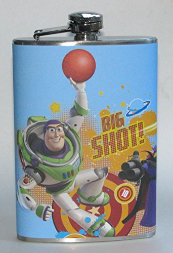Woody Buzz Lightyear Toy Story Cartoon Party Bar Stainless Steel Liquor Hip Flask Flasks Gift ()