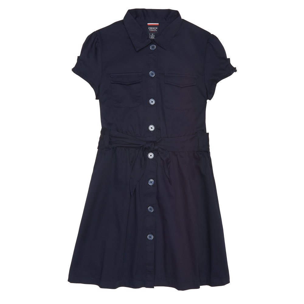 French Toast girls Twill Safari Shirtdress Z9200