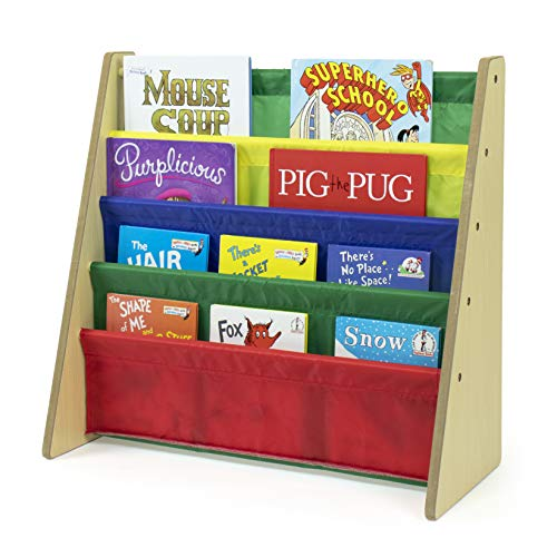 Tot-Tutors-Kids-Book-Rack-Storage-Bookshelf-NaturalPrimary-Primary-Collection